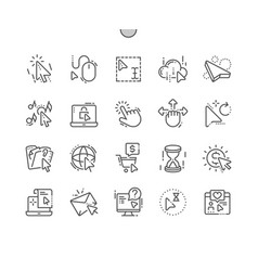 Selection cursors well-crafted pixel perfect vector