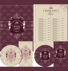 set design elements for liquor store with crown vector image