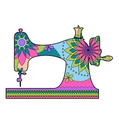 Sewing machine colorful vector