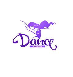 silhouette beauty dancer logo template vector image