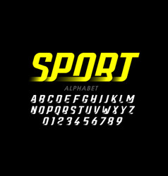 speed sport style font vector image
