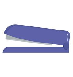 Stapler on white background vector