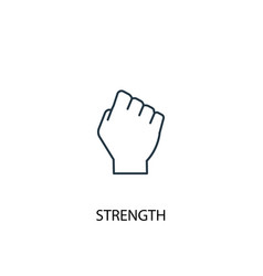Strength concept line icon simple element vector