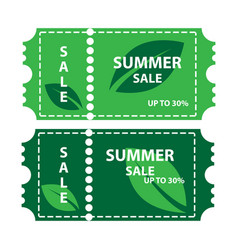 summer sale coupon vector image