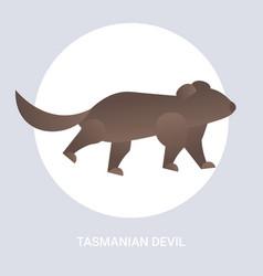 tasmanian devil icon cartoon endangered wild vector image