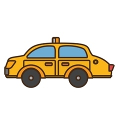 taxi vehicle service public isolated icon vector image