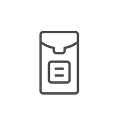 Tissue packet line icon vector