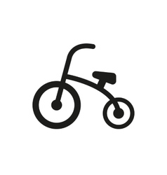 Tricycle icon design Bike bicycle symbol web vector image