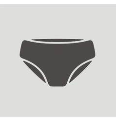 Underpants icon vector image