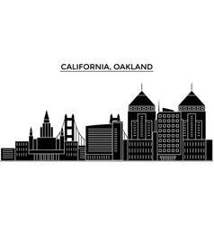 Usa california oakland architecture city vector