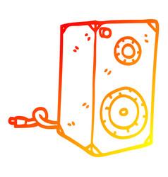 Warm gradient line drawing cartoon retro speaker vector