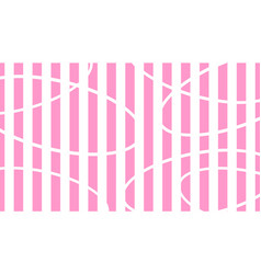 white and pink striped background abstract vector image