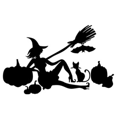 Witch pumpkin vector