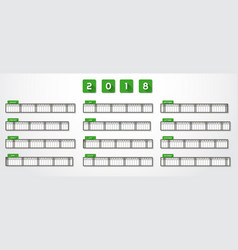 Year calendar 2018 vector
