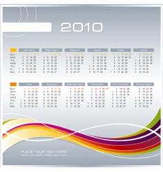 business calendar vector image vector image