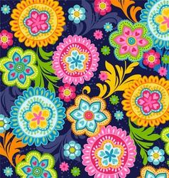 ethnic flowers vector image vector image
