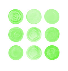 green isolated watercolor paint circle vector image vector image