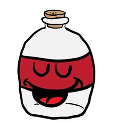 happy empty bottle vector image vector image