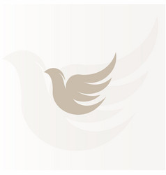 isolated abstract bronze color birds silhouettes vector image
