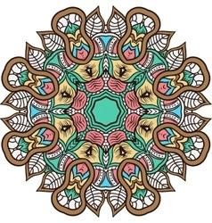 Mandala background henna natural colors vector image vector image