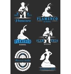 Set Logos and Badges Flamenco vector image vector image