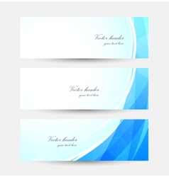 Set of blue bright banners vector image vector image