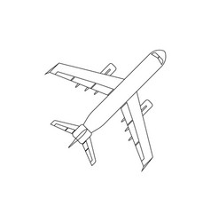 airplane flat icon and logo outline vector image vector image