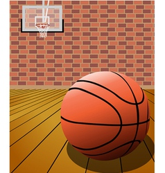 basketball on the court vector image vector image