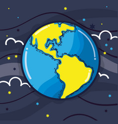 exploration earth planet in the galaxy space vector image