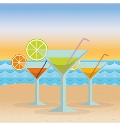 icons of summer vector image vector image