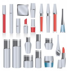 silver makeup packages vector image