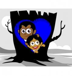 tree nest vector image