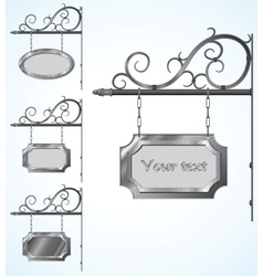 wrought iron signs for old-fashioned design vector image