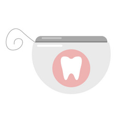 dental floss icon flat style vector image vector image