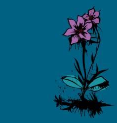 ink flower vector image vector image