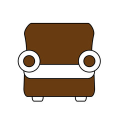 one seat couch or sofa icon image vector image vector image