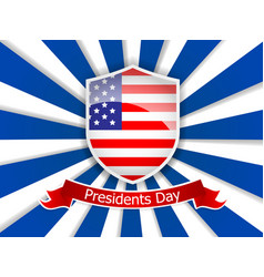 presidents day of usa flag vector image