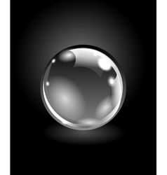 Realistic sphere vector image