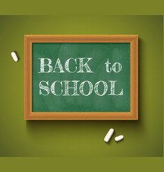 back to school on the chalkboard vector image