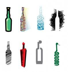 bottle web icons vector image