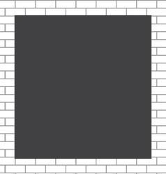 Frame white bricks vector image vector image