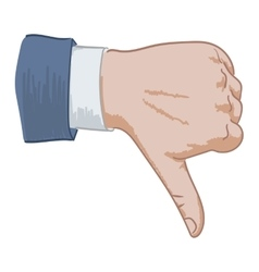 hand sign dislike vector image