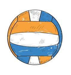 retro volleyball ball vector image vector image