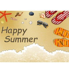Summer Holidays in the Beach vector image vector image