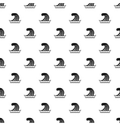 Wave pattern simple style vector image vector image