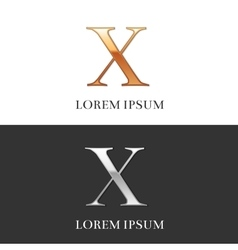 10 X Luxury Gold and Silver Roman numerals sign vector