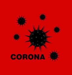 a corona virus cartoon char vector image