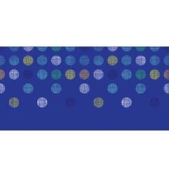 Abstract textile polka dots on blue horizontal vector