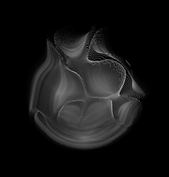 Abstract white mesh sphere on dark vector
