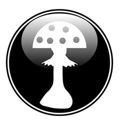 Amanita button vector image